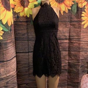 "New Zalalus black lace dress size 4 34"" long"
